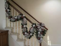 Decorating Pine Christmas Wreaths by Christmas Stairway Garland U0026 Swag Tear Drop Set Deco Mesh Wall