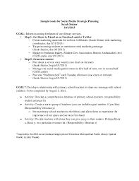 sample goals for social media strategic planning
