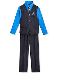 boys stripe vest shirt tie suiting