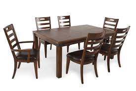 pulaski heartland falls seven piece dining set mathis brothers