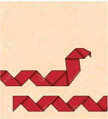 Origami Snake - origami snake royalty free cliparts vectors and stock