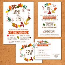 autumn wedding invitations 50 fall wedding invitations