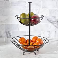 tiered fruit basket tiered fruit baskets crate and barrel