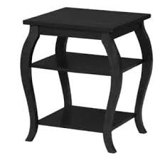 Powell Black Glass Top Side Powell Coffee Console Sofa End Tables For Less Overstock