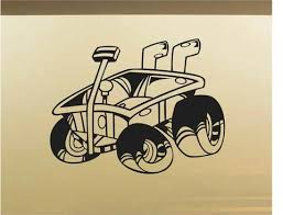 red wagon car wall decal auto wall mural vinyl stickers