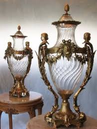 Baccarat Vase Vintage A Large Pair Of French Ormolu Mounted Deep Cut Crystal Vases