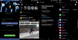 facebook themes and skins for mobile theme clear dark facebook and messenger android development