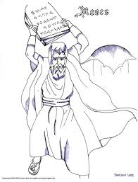 coloring pages ten commandments