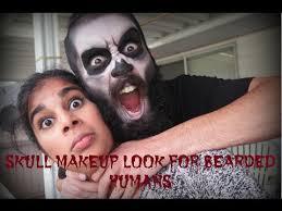 Bearded Halloween Costume Halloween Skull Makeup Bearded Humans