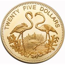 bahamas 1992 flamingo 25 gold proof coin pacific world coins