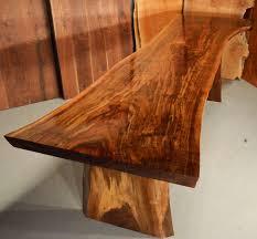custom contemporary rustic burl claro walnut slab table