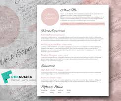 Elegant Resume Examples by Touch Of Pink A Beautiful Free Resume Template