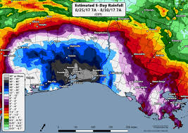 Texas Weather Map After Disastrous Rain Around Beaumont And Port Arthur Harvey