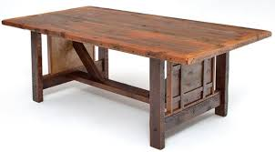 salvaged wood dining table reclaimed barn wood custom made