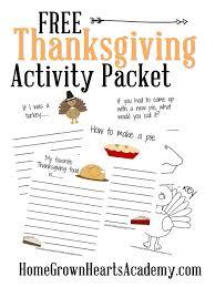 free printable thanksgiving activity packet money saving