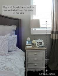 Tall Bedside Tables by What Is The Right Bedside Lamp Height Diy Decorator