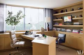 Office Simple Home Office Inspiration With Rectangle Dark Brown