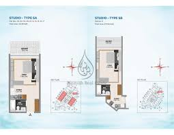 Studio Apartment Floor Plans Bayz By Danube Studio Apartment Type 1e 2a Floor Plan
