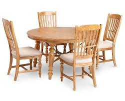 Trestle Dining Room Table by Lake House 5 Pc Round Dining Room Set Furniture Row