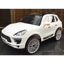 jeep cars white kids porsche cayenne style 4 x 4 jeep 12v electric battery ride on