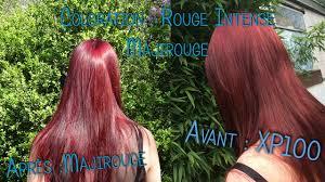 cheveux rouge acajou coloration blond foncé rouge intense l u0027oréal majirel mix rouge