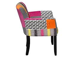 foxhunter patchwork chair fabric vintage armchair seat dining room