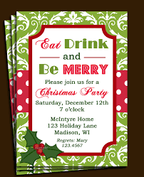 christmas party invitations christmas party invitation printable or printed with free