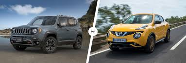 crossover nissan jeep renegade vs nissan juke crossover clash carwow