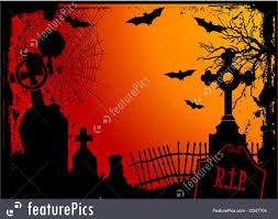 red halloween background halloween halloween cemetery stock illustration i2347704 at