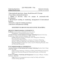 Sample Resume Objectives Teaching Position by College Instructor Resume Resume For Your Job Application