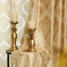 Gold And Blue Curtains 2017 European Gold Gold Jacquard Royal Deluxe Blue Curtain Bedroom