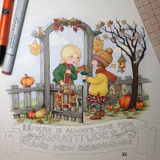 engelbreit 2017 calendar s october drawing almost finished