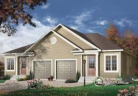 Duplex Plans With Garage Duplexes U0026 Semi Detached House Plans From Drummondhouseplans Com