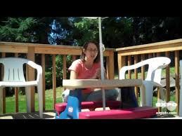 little tikes easy store jr picnic table little tikes picnic table with umbrella review youtube