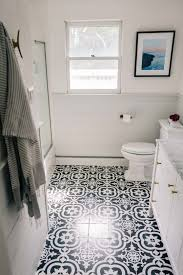 painted tile floors take jess ann kirby u0027s bathroom makeover to the