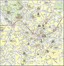 Large Map Of The World Milan Map Detailed City And Metro Maps Of Milan For Download