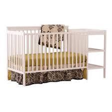 Convertible Crib And Changer Storkcraft Milan 2 In 1 Fixed Side Convertible Crib Changer White