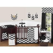 Gray And White Chevron Crib Bedding Sweet Jojo Designs Chevron Crib Bedding Collection In Black White