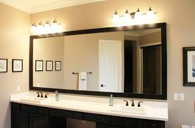 Modern Vintage Bathroom How To Hang A Large Bathroom Mirror Kavitharia