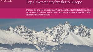 guardian lists zagreb in the top 10 for winter city breaks