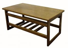 large square craft table coffee tables coffee table with drawers and shelf small harvest oak