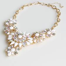 statement necklace white images Princess aurora ivory white borealis stone flower statement bib jpg