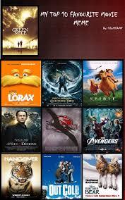 Meme Movies - top 10 movies meme by percyjackson forever on deviantart