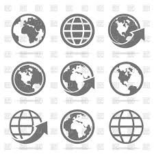 World Map Icon by Set Of World Map Icons Vector Image 82803 U2013 Rfclipart
