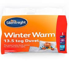 Duvet 13 5 Tog Silentnight 13 5 Tog Winter Warm Single Duvet Departments Diy