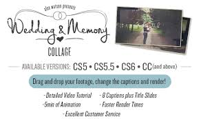 wedding captions wedding memory collage by alex watson videohive