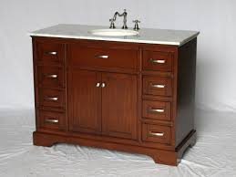 Shaker Style Vanities 46 Inch Single Sink Bathroom Vanity Shaker Style Brown Color 46