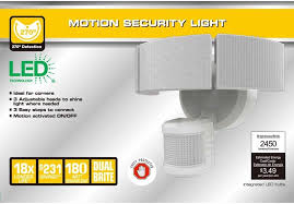 Defiant Security Light Defiant 270 Degree 3 Head White Led Motion Outdoor Security Light