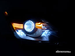 fairlady z white 06 08 nissan z33 350z fairlady z u2014 amber super led headlights