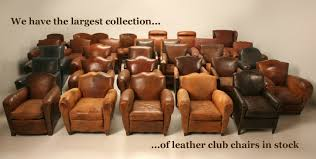 old leather armchairs french vintage leather club chairs for sale shop online